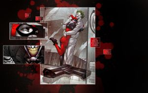 Harley Quinn and The Joker by piia-l