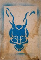 Donnie Darko Frank Stencil by saniday