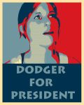 Dodger For President by Patrick-Norris
