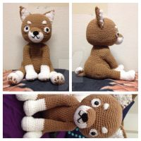 Large Amigurumi Puppy! by Kuro-Mizuo