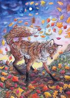 Dances in the Autumn leaves by dawndelver