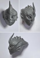 BJD - Scylla - An Alien Head by FreakStyleBJD