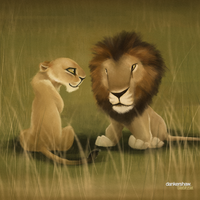 Lions in Love by dankershaw