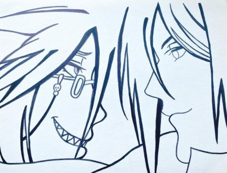 Sebastian and Grell by 2846mn