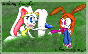 Making friend's... by Hunnythewhiterabbit