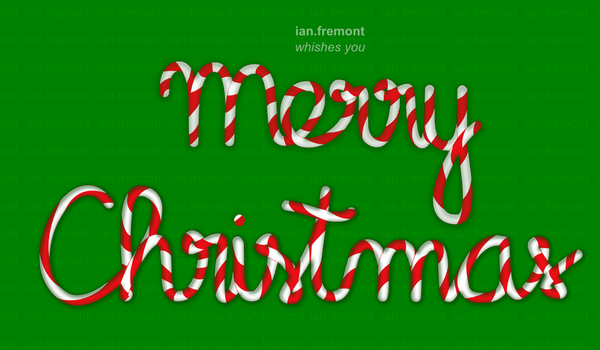 Merry Christmas Candy Cane by ian-fremont