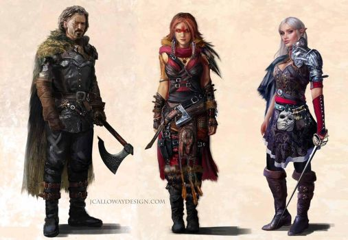 Fantasy Character Lineup by JoshCalloway