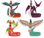 Amphithere Taur Sheet I (2/4 Open) by catticks-adopts