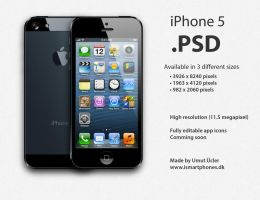 Apple iPhone 5 .PSD by umutucler