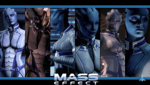 Mass Effect Wallpaper - Liara T'Soni by Ainyan42