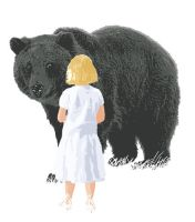 Girl and Bear by kenraney