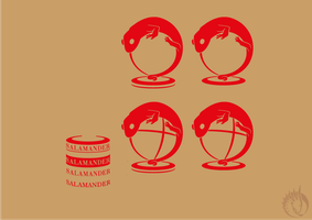 Salamander travel - logo WIP by MargotShareaza