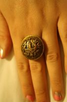 Vintage Button Ring by lilmejuju