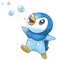 Piplup used bubble! by Light-Fox