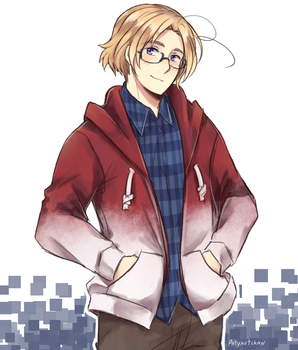 APH red hoodie by Patynotchan