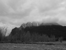 Mt. Si In Black And White by j-dub