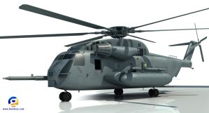 Sikorsky CH-53 Sea Stallion by Gandoza