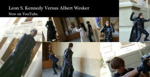 Leon Scott Kennedy Vs Albert Wesker by IKevinXSer