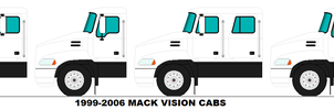 1999-2006 Mack Vision Cabs by MisterPSYCHOPATH3001