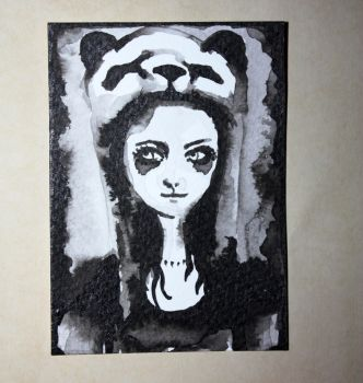 Panda eyes ACEO by dyingrose24