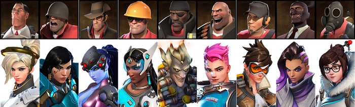 Now everyone in TF2 has an equivalent in Overwatch by raulsatisacro