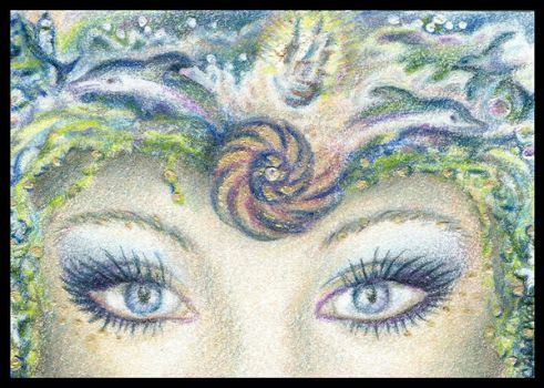 Sea Goddess - ACEO by Carol-Moore