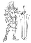 Concept sketch 3 - warrior by windship
