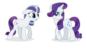 Glory and Rarity by Agirl3003