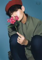 Taehyung (Flower Series) by Yunhosbambi