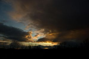 Todays evening sky 3 by steppelandstock