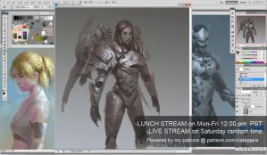 Pharah drawing Overwatch LIVE stream 43 by XiaTaptara