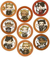 Dragon Age Buttons by jamknight