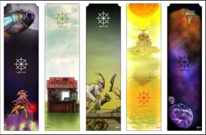 The bookmarks by syke-ink
