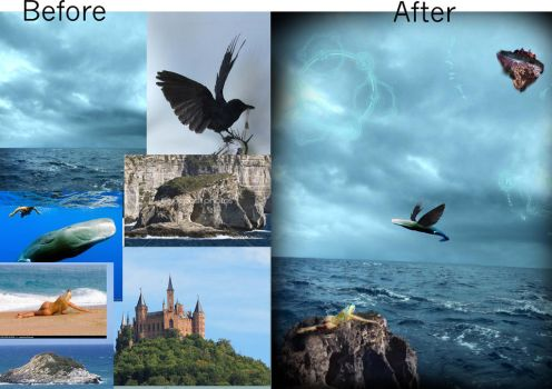 My Fantasy World: Before and After by Rainiepie