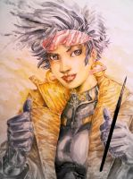 Watercolored X-Men Jubilation Lee (Jubilee) by dreamflux1