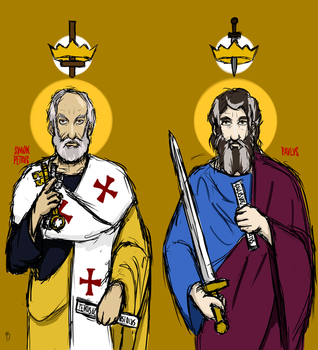 Sts. Peter and Paul, with Crowns of Martyrdom by AgentSAMa
