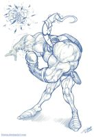 Earthworm jim sketch by sterna