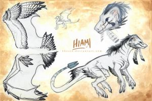 Ref Sheet: Hiami by Khezix
