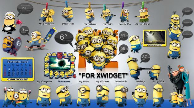 Despicable Me - Minions Suite for xwidget by Jimking