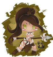 Nidalee the Chibi Bestial Huntress by HarukArt