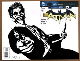 Batman Zero Sketch Cover featuring The Joker by ChrisMcJunkin