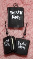 Death Note - Earrings and Necklace Pendant by EleanoraHoshi