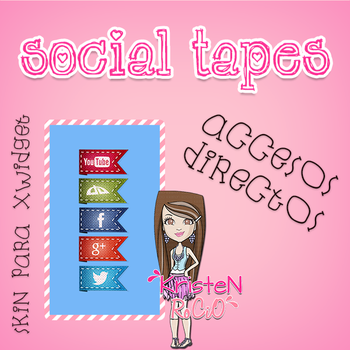 Social Tapes Accesos Directos-Xwidget by RoohEditions