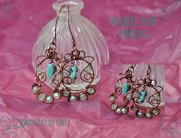 Turqoise Wire Earrings by tanyquil
