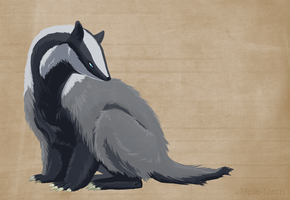 Badger Speedpaint by Triple-Torch-Art