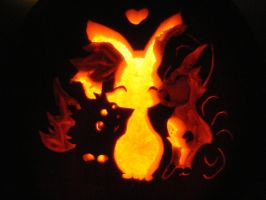 Pokemon Pumpkin: Foxes! by dragons9rhapsody