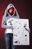 Totoro Hoodie with Mika by Plushbox