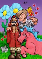 Amy and the Unicorn Colour by deedeetee