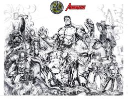 JUSTICE LEAGUE OF AMERICA and THE AVENGERS by jey2dworld