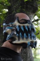 Commission: Leather Crystal Beast Mask by Epic-Leather